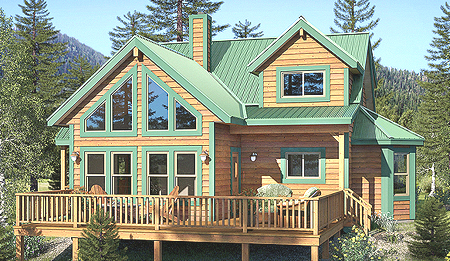 Foxtail Model - Larger floor plan, covered entry decks