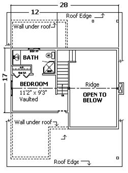 Cabin Kit Plan - Kinnikinnick floor plan - loft