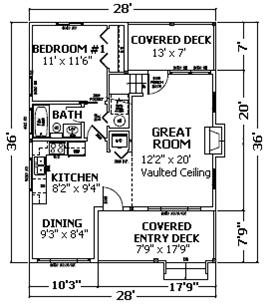 Cabin Kit Plan - Kinnikinnick floor plan