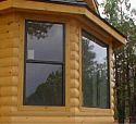 Foxtail model with Ponderosa Pine log siding