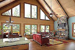Paint Brush Interior - Optional beams, paneling, wood floors