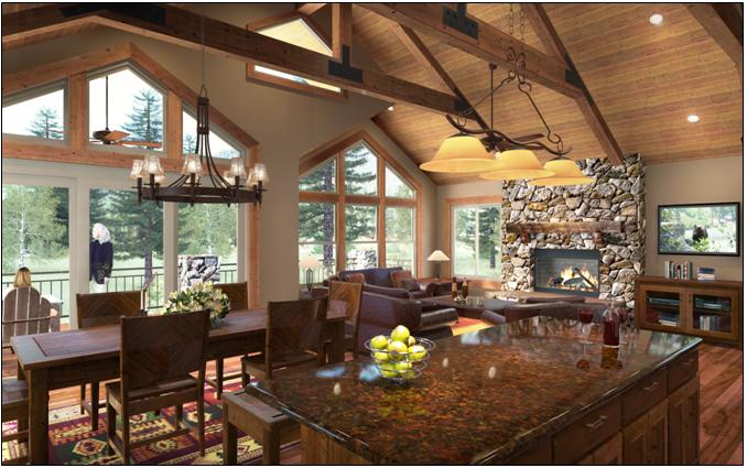 "New - The ""Peaks"" Plan - Great Room, Dining"