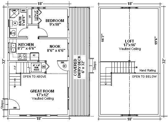 Cabin Kit Plan - Redstone floor plan