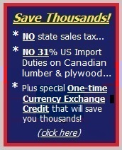 Save thousands with Canadian lumber and plywood