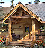 Executive Retreat - Custom Timber Frame Entry